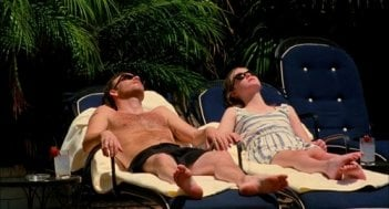Stephen Dorff e Elle Fanning in un momento di relax nel film Somewhere