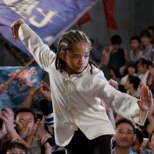 Un'immagine di Jaden Smith dal film Karate Kid