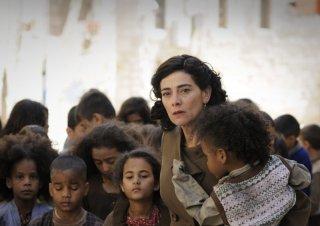 Hiam Abbass in una scena del drammatico Miral