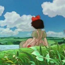 Kiki (di spalle) in una sequenza del cartoon Kiki consegne a domicilio