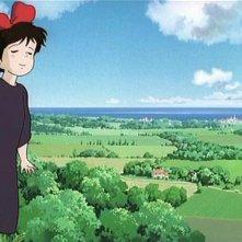 Kiki in una scena del film d\'animazione Kiki consegne a domicilio