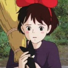 La piccola Kiki e Jiji in una sequenza di Kiki consegne a domicilio