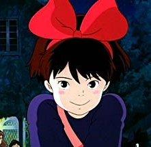 La piccola protagonista del film d\'animazione Kiki consegne a domicilio