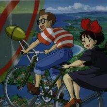 Tombo e Kiki in una sequenza del cartoon Kiki consegne a domicilio