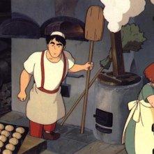 Una scena del film d\'animazione Kiki consegne a domicilio del 1989