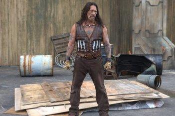 Danny Trejo in una scena del film Machete