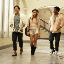Blair Redford, Gillian Zinser e Tristan Wilds nell'episodio Senior Year, Baby di 90210