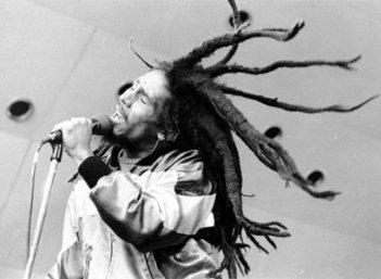 Bob Marley durante una performance