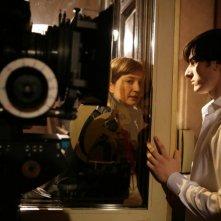 Luca Marinelli e Alba Rohrwacher sul set del film La solitudine dei numeri primi