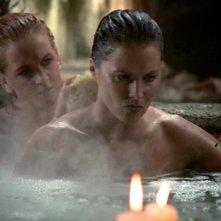 Lucy Lawless e Renee O\'Connor nell\'episodio Xena contro il gigante