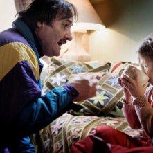 Maurizio Donadoni con Martina Albano nel film La solitudine dei numeri primi