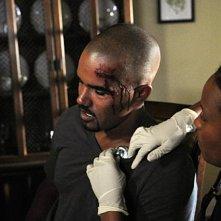 Shemar Moore nell'episodio The Longest Night, premiere della stagione 6 di Criminal Minds