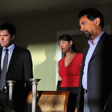 Thomas Gibson, Joe Mantegna e Paget Brewster nell'episodio The Longest Night, premiere della stagione 6 di Criminal Minds