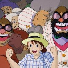 Una scena del film d\'animazione Porco Rosso del 1992