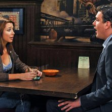 Jason Segel ed Alyson Hannigan nell'episodio Big Days, premiere della stagione 6 di How I Met Your Mother