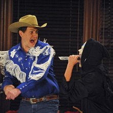 Jason Segel in una scena dell'episodio Zoo or False di How I Met Your Mother
