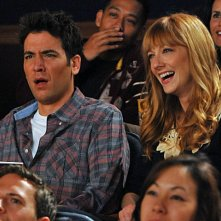 Josh Radnor e Judy Greer nell'episodio The Wedding Bride di How I Met Your Mother