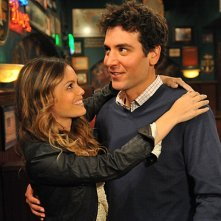 Josh Radnor e Rachel Bilson nell'episodio Big Days, premiere della stagione 6 di How I Met Your Mother