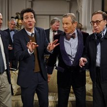 Josh Radnor, Michael York, Peter Bogdanovich e Will Shortz nell'episodio Robots Vs. Wrestlers di How I Met Your Mother