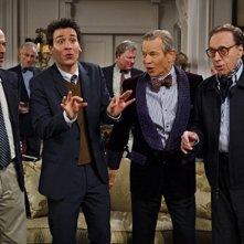 Josh Radnor, Michael York, Peter Bogdanovich e Will Shortz nell'episodio Robots Vs. Wrestlers di How I Met Your Mother