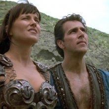 Lucy Lawless e John D\'Aquino in Xena e il ritorno di Ulisse