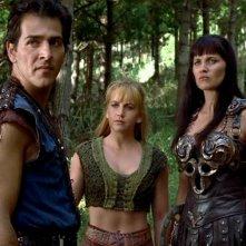 Lucy Lawless, John D\'Aquino, Renee O\'Connor in Xena e il ritorno di Ulisse