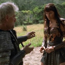 Tim Thomerson e Lucy Lawless in Xena e l\'ingiusta condanna