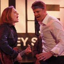 David Boreanaz ed Emily Deschanel nell'episodio The Rocker in the Rinse Cycle di Bones