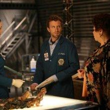 Emily Deschanel, T.J. Thyne e Patricia Belcher nell'episodio The Boy with the Answer di Bones