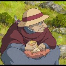 Un\'anziana Sophie in una scena del film d\'animazione Il castello errante di Howl