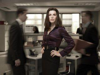 Julianna Margulies in una foto promozionale della stagione 2 di The Good Wife