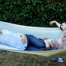Marina Fois ed Elodie Bouchez nel film Happy Few