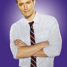 Matthew Morrison posa per una foto promozionale della stagione 2 di Glee