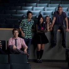 Una scena di gruppo dell'episodio Audition, premiere della stagione 2 di Glee