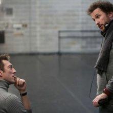 Vincent Cassel sul set di Black Swan insieme a Darren Aronofsky