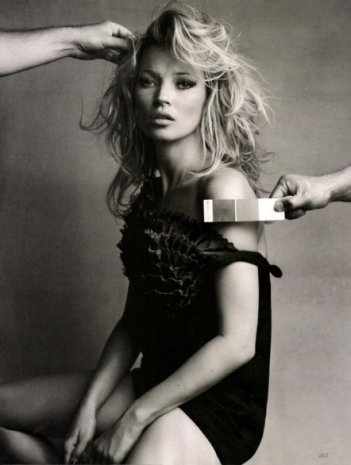 Kate Moss su Vogue UK
