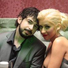 Christina Aguilera col marito Jordan Bratman sul set di Burlesque