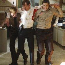 Jay Paulson, Peter Outerbridge e Geoff Stults nell'episodio Blame It on Rio Bravo di Happy Town