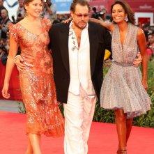 Venezia 2010: Rula Jebreal con Stella e Julian Schnabel presentano il film Miral