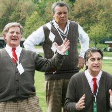 I Cesaroni 4: Claudio Amendola, Antonello Fassari e Max Tortora in una scena della nuova stagione