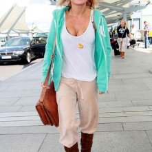 Geri Halliwell all'aeroporto di Heathrow
