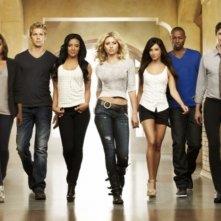 Il cast di Hellcats in una foto promozionale della serie
