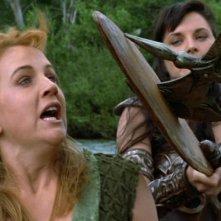Renee O\'Connor e Lucy Lawless nell\'episodio Xena e il ritorno al passato