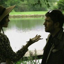 Tygh Runyan e Shannyn Sossamon in una foto del film Road to Nowhere