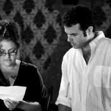 Edoardo De Angelis e Aida Turturro sul set di Mozzarella Stories