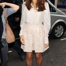 Eva Mendes agli Studios di Radio 1 per promuovere il suo film The Other Guys
