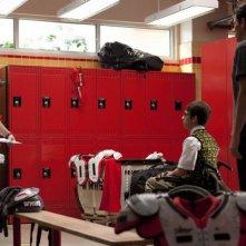 Dot Jones, Kevin McHale e Cory Monteith nell'episodio Britney/Brittany di Glee