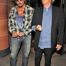 Johnny Depp e Keith Richards all'uscita del ristorante C London