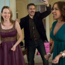 John Ortiz, Daphne Rubin-Vega e Amy Ryan in una scena del film Jack Goes Boating