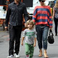 Gwen Stefani, il marito Gavin Rossdale e il loro primogenito: Kingston su Madison Avenue